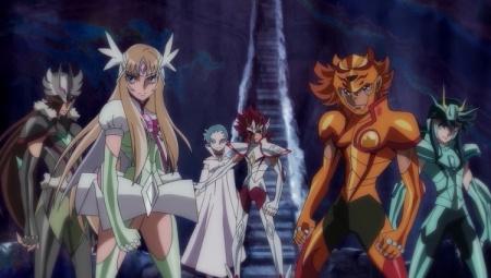 Kōga et ses amis en Kyū Cloths.